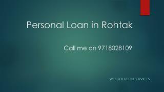 Personal Loan rohtak