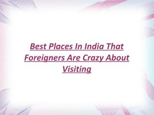 Rex Bolinger - Best Places In India That Foreigners Are Crazy About Visiting