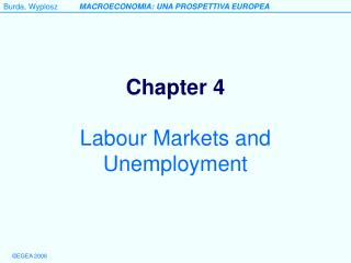 Labour Markets and Unemployment