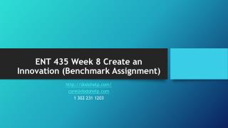 ENT 435 Week 8 Create an Innovation (Benchmark Assignment)