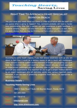 Right Time to Approach Heart Specialist Boynton Beach
