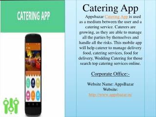 Get Catering App For Your Catering Business