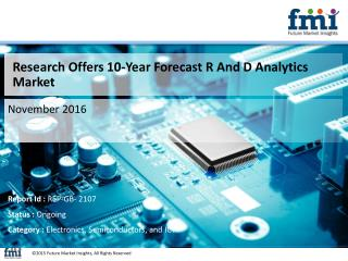 R And D Analytics Market Expected to Expand at a Steady CAGR through 2026
