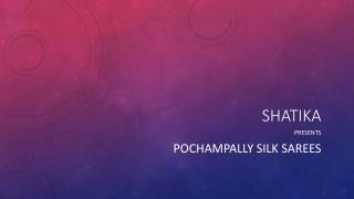 Shop for Pochampalli Silk Sarees Online