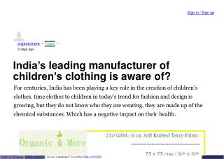 kids clothes manufacturers in india