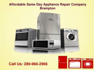 Same Day Appliance Repair Service Brampton