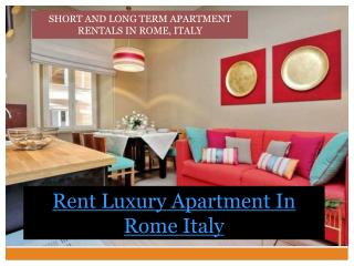 rent luxury apartment in rome italy