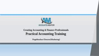 Looking for commerce graduates for an job training program on practical accounting aspects, Post completion of trainings