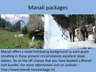 kullu manali tour package