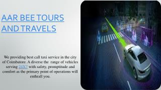 Travels in Coimbatore , Coimbatore Travels , Airport Taxi Services