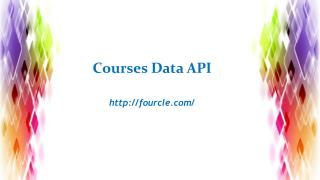 Courses Data API - Fourcle