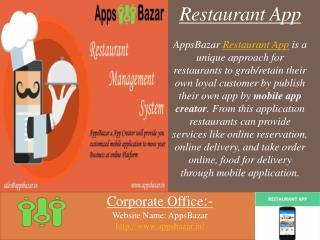 Get Restaurant App For Your Restaurant Business