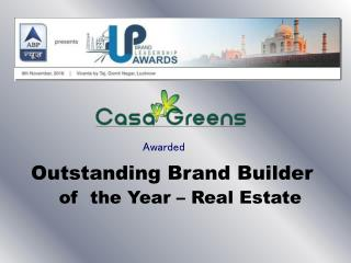 Outstanding Brand Builder of the Year - Real Estate