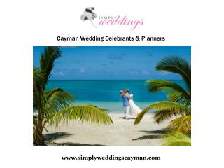 Choosing a wedding planner for simple Cayman weddings