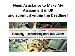 Make My Assignment Online UK at Cheap Price From MyAssignmenthelp.com Professionals