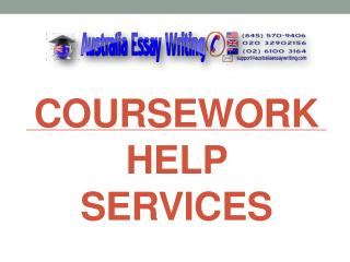 Coursework Help Services