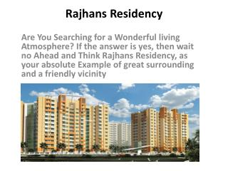 Rajhans Residency flats in Greater Noida