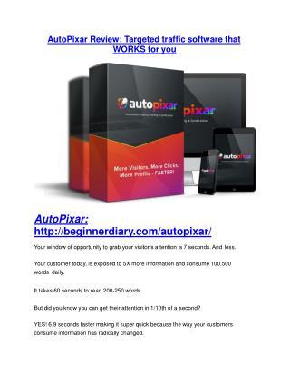 AutoPixar review & bonuses - cool weapon