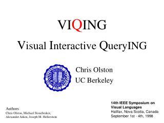 VIQING    Visual Interactive QueryING