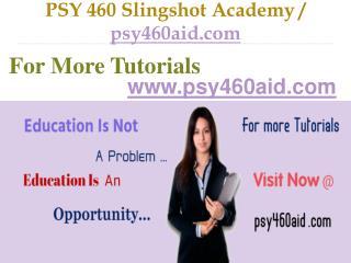 PSY 460 Slingshot Academy / psy460aid.com