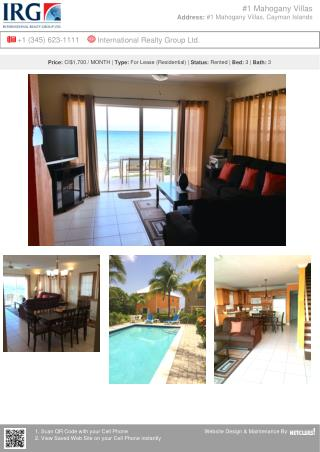 Mahogany Villas - Residential Property for lease by IRG Cayman