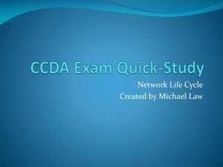 CCDA Exam Quick-Study