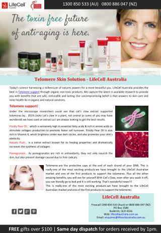 Telomere Skin Solution - LifeCell Australia