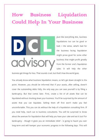 How Business Liquidation Could Help In Your Business