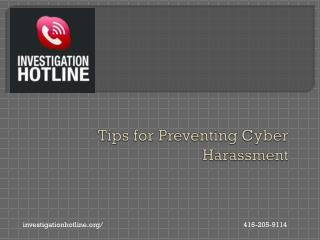 Tips for Preventing Cyber Harassment