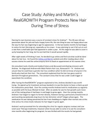 Case Study: Ashley and Martin's RealGROWTH Program Protects New Hair During Time of Stress
