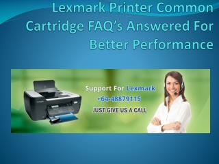 Lexmark Printer Common Cartridge FAQ's Answered For Better Performance