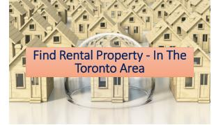 Find Rental Property - In The Toronto Area