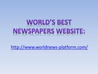 Best Newspapers Website in the World