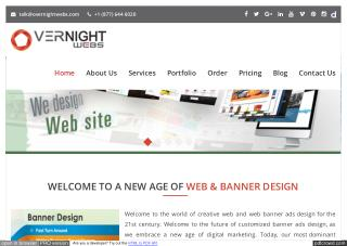 OverNight Webs is The Best Banner Ads Design Company in USA