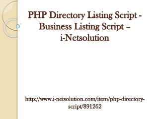 PHP Directory Listing Script - Business Listing Script - i-Netsolution