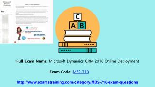How can I pass microsoft mb2-710 Exam