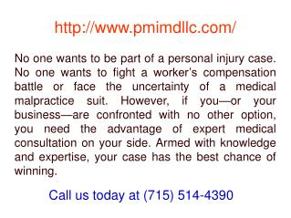 Medical malpractice consultant Eau Claire WI