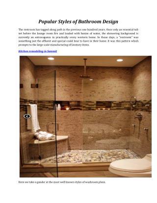 Popular Styles of Bathroom Design