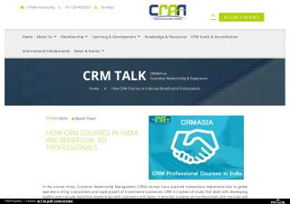 How CRM Courses in India are Beneficial to Professionals