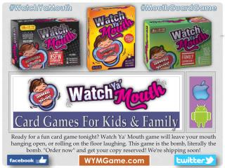 Card Games For Kids & Family - Watch Ya Mouth