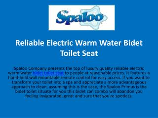 Reliable Electric Warm Water Bidet Toilet Seat