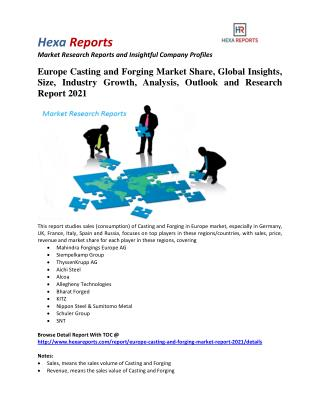 Europe Casting and Forging Market Professional Survey Report 2021 By Hexa Reports