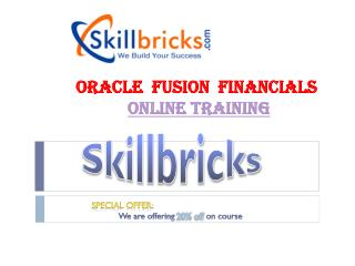 Oracle Fusion Finance Online training at SkillBricks