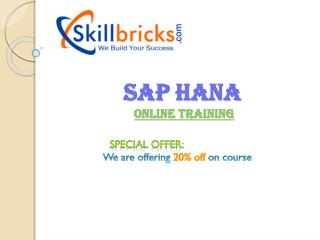 Learn SAP HANA Online Training Sevices at SkillBricks