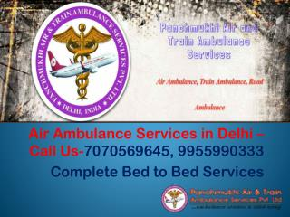 Panchmukhi Air and Train Ambulance Services in Delhi