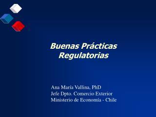 Buenas Pr cticas Regulatorias