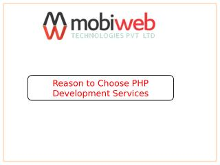 Reason to Choose PHP Development Services