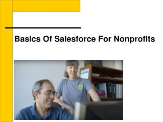 Basics of salesforce for nonprofits organizations