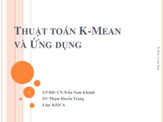 Thut to n K-Mean  v  ng dng