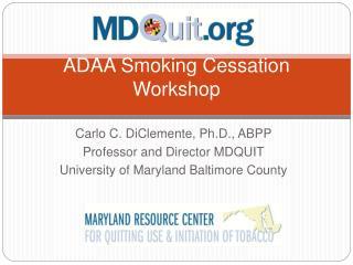 ADAA Smoking Cessation Workshop
